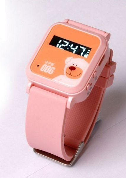 Купить Персональные детские трекер-часы Cityeasy 006 Bear Watch GPS Tracker (розовые)