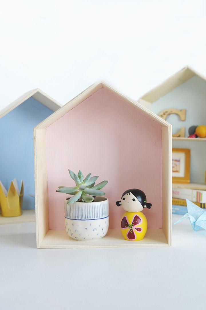 Diy Wood House Shelf Wood Diy Diy Shelf Decor House Shelves