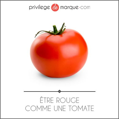 Tre rouge comme une tomate expressions jeudemots motoqu motoqu pinterest rouge - Rouge comme une pivoine ...