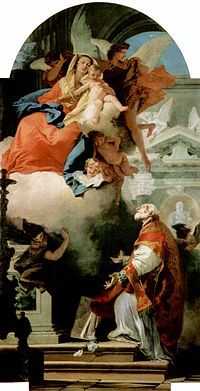 St. Philip Neri and the Virgin Mary, by Tiepolo.