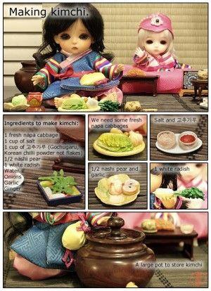 TakosDiary's posts - pick  キムチ作り体験. Making kimchi.  http://blog.korea.net/?p=10978  #Tako #たこ #TakosDiary #たこの日記 #Doll #Toy #Miniature #ミニチュア #Rement #リーメント #Kimchi #キムチ #김치 #Latidoll #LatiYellow #Doll #BJD #Hanbok #한복 #Korea #Korean #한국 #朝鮮 #BallJointedDoll #私の旅物語 #MyTravelStory #Cute #Kawaii #かわいい #BúpBêKhớpCầu