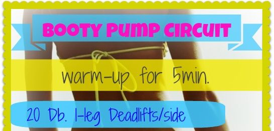 Booty Pump Circuit: Lower Body Glute Workout ! | My Fit Station
