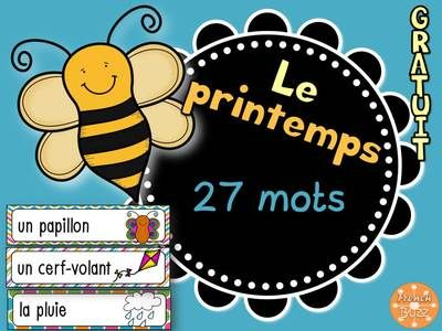 French+Spring+Word+Wall+-+Le+printemps+-+vocabulaire+from+French+Buzz+on+TeachersNotebook.com+-++(11+pages)++-+Le+printemps+vocabulaire+mur+de+mots+étiquettes+images+french+français+Spring