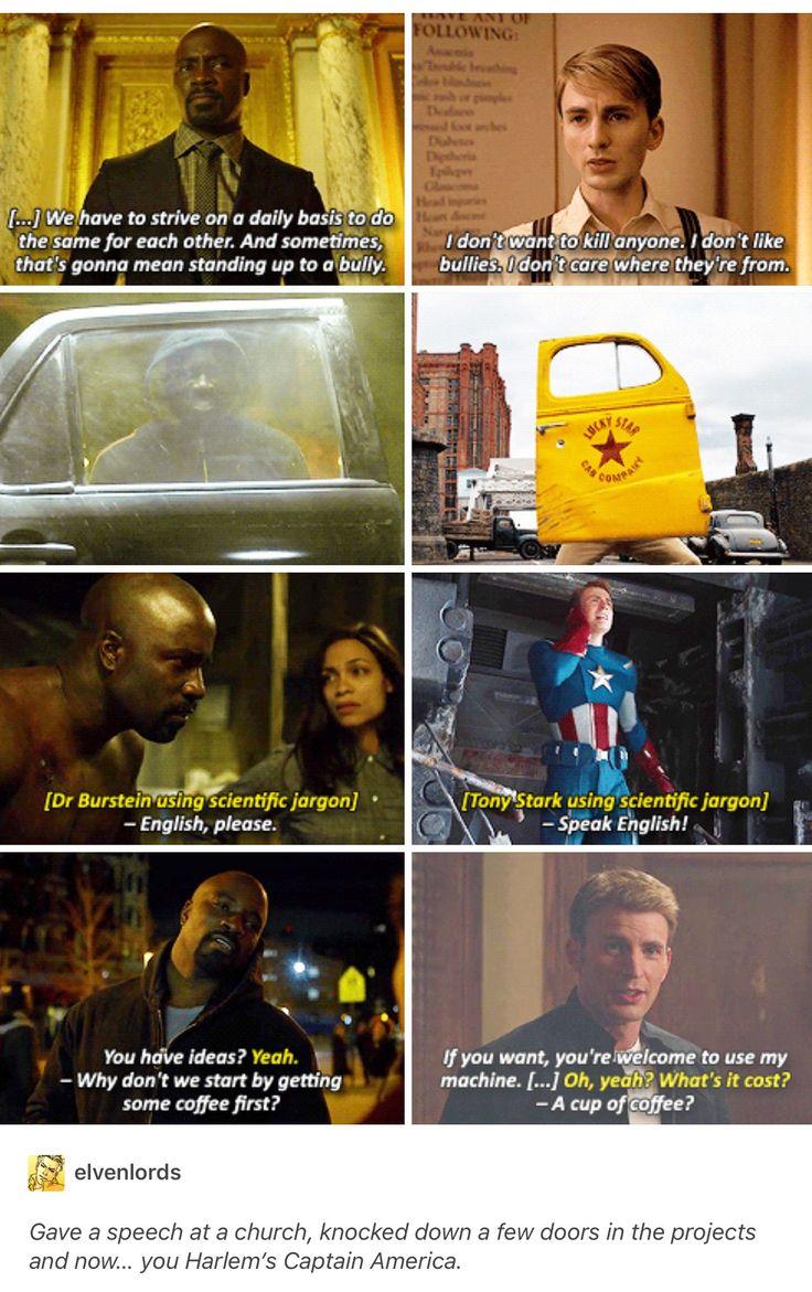Luke Cage, Power Man, Steve Rogers, captain America, marvel, mcu, avengers, the defenders