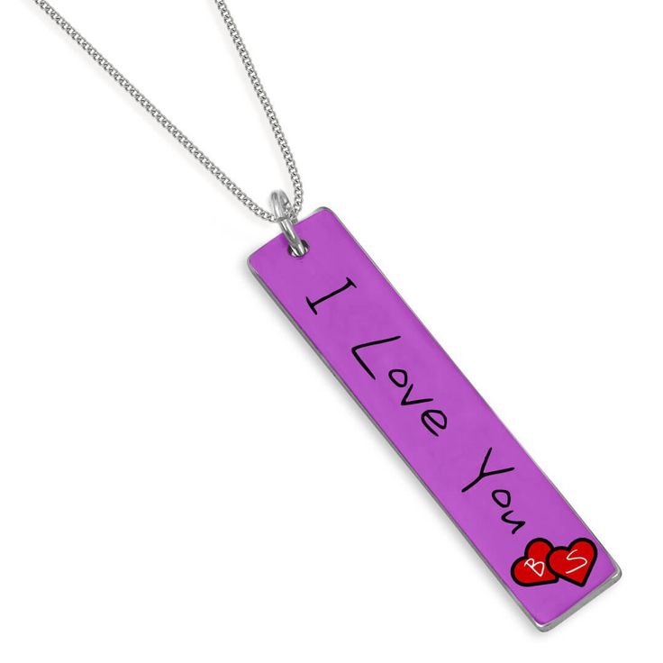 I Love You ve İsim Baş Harfleri Yazılı Sevgili Kolyesi