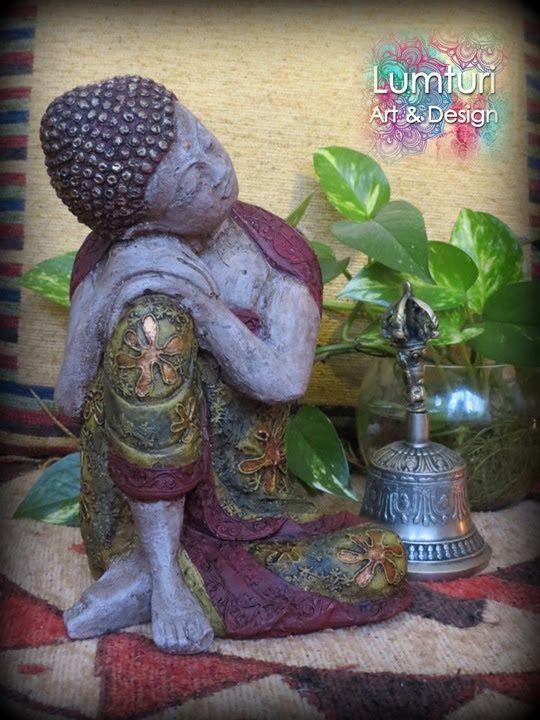 Buda de los sueños femenino verde 24x16 cm