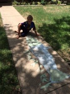 Blog Post: DIY Sidewalk Chalk Paint - quick and simple for hours of outdoor fun! #DIYsidewalkchalk