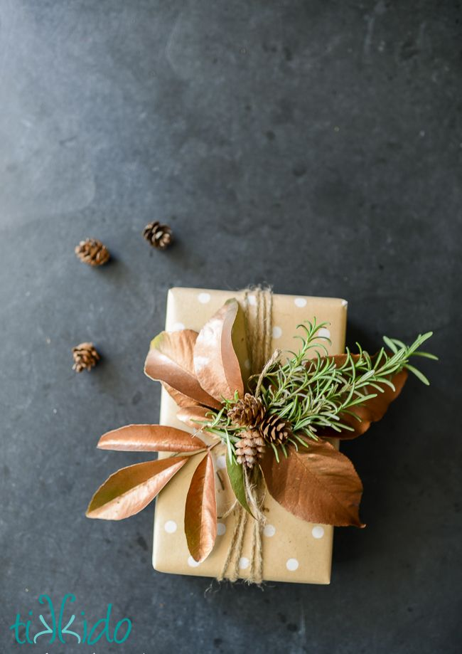 I've said this enough times that you probably think I'm a broken record, but I love creative gift wrapping! And I love it even more when I come up with inexpensive (or even free) packaging ideas.