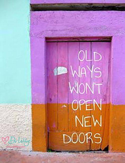 Changing old ways...