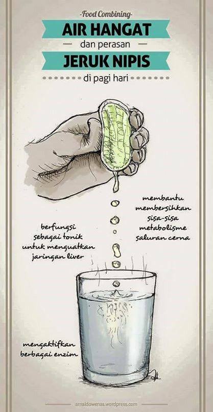 warm water + lime in the morning by Food Combining Indonesia: