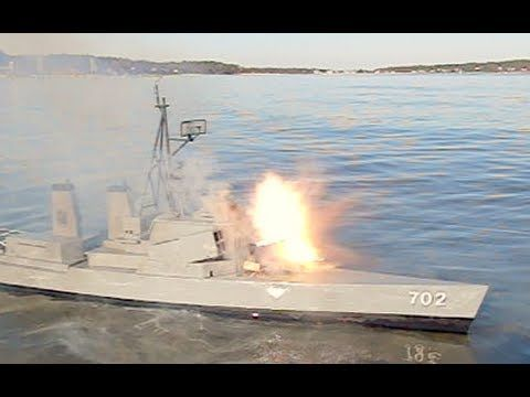 R/C Boat's Rocket Attack Backfires