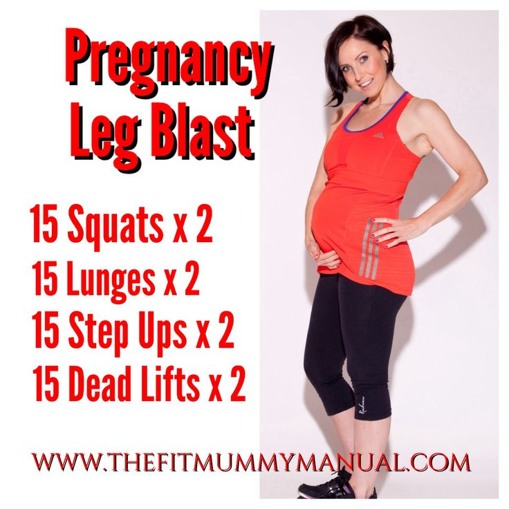 Pregnancy leg workout