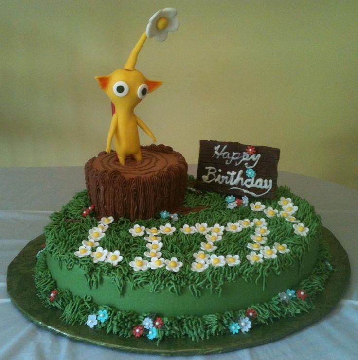 Pikmin Cupcake Cake