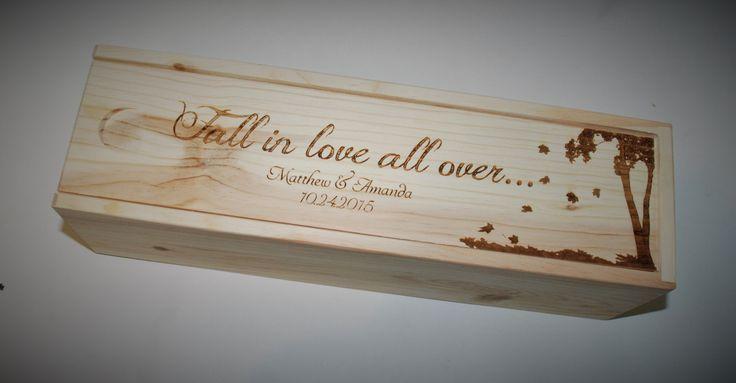 Wedding Engraved Wine Box, Groomsmen gifts, Wedding party gifts, Engraved wedding gifts by MemoriesMadeCustom on Etsy