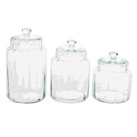 Woodland Imports 3-Piece Glass Food Storage Container 61373