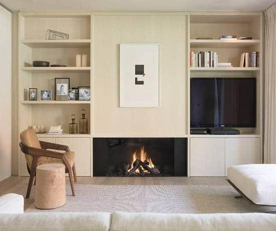 25 best ideas about foyer au gaz on pinterest modern fireplace fireplace tv wall and modern. Black Bedroom Furniture Sets. Home Design Ideas
