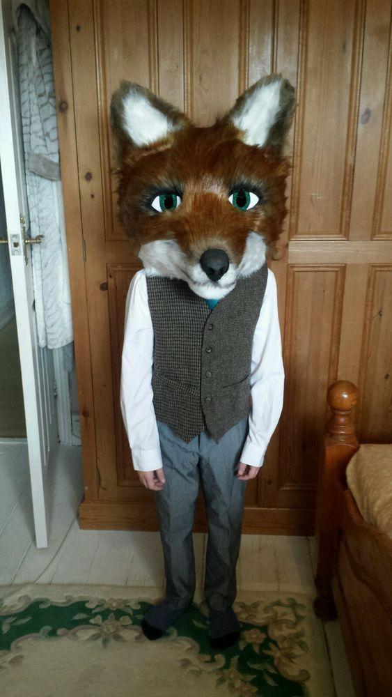 fursuit fox head & tail fancy dress/pantomime/cosplay/leicester city filbert fox  | eBay