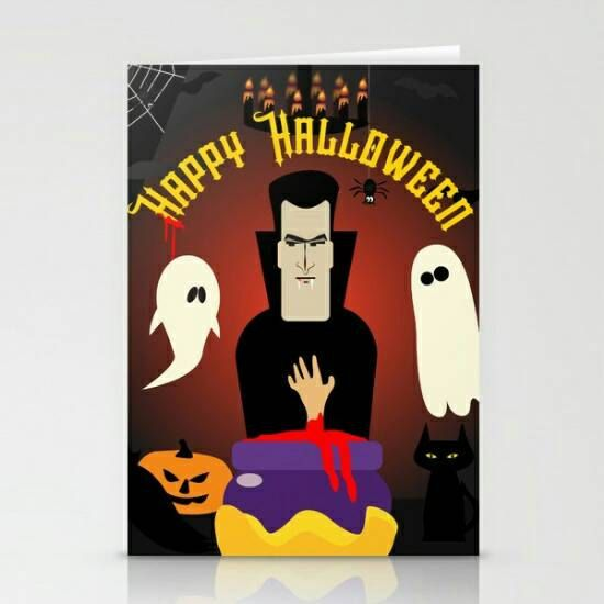 Halloween Print Poster Dracula Art Print Digital Illustration Sticker Invitation Print Wall Decor Digital poster Ghost Happy Halloween