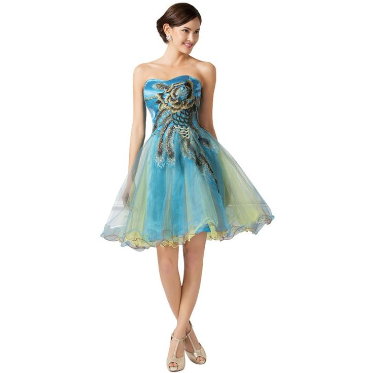 Modré spoločenské šaty CL007541