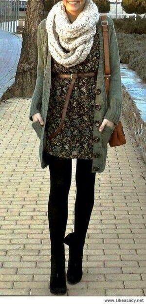 0_Vestido con chaqueta y bufanda. Me gusta.
