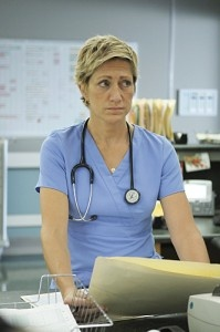 """Edie Falco talks to VIVmag about her thoughts on her character Jackie Peyton in Showtime's """"Nurse Jackie."""""""