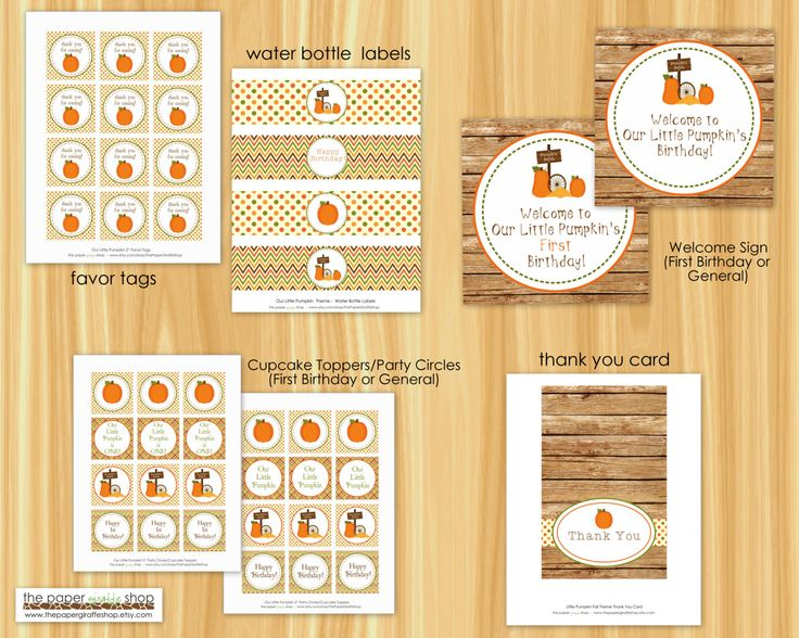 INSTANT DOWNLOAD DIY Printable Our Little Pumpkin Rustic Fall Theme Birthday Party Package by ThePaperGiraffeShop on Etsy https://www.etsy.com/listing/202179072/instant-download-diy-printable-our