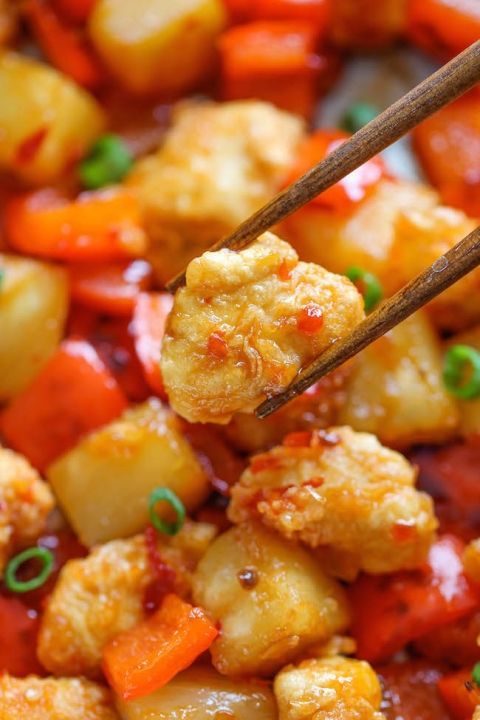 Panda+Express+Sweet+Fire+Chicken+Copycat+-+An+easy+homemade+version+that+tastes+so+much+better+(and+healthier)+than+take-out!