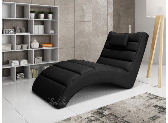 Chaise longue - Liam - Zwart - Leer. Chaise longue Liam is een comfortabele lounge stoel. De ligstoel heeft een strakke, kunstleren bekleding. De chaise longue is geschikt voor de woonkamer, speelkamer of zelfs slaapkamer en geeft je inrichting net dat extra luxe.