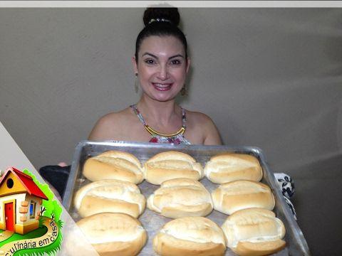 Como Fazer Pão Caseiro  Francês (Receita Culinaria-em-Casa - YouTube
