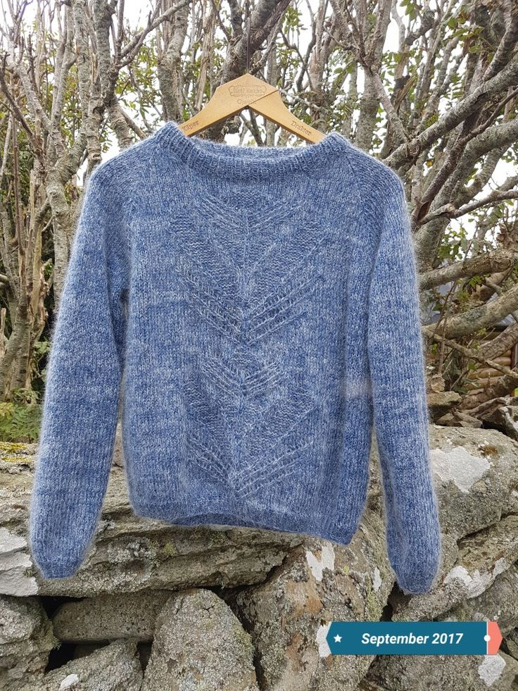 Litt ego strikk i tynn alpakka og tynn silk mohair Sandnes design