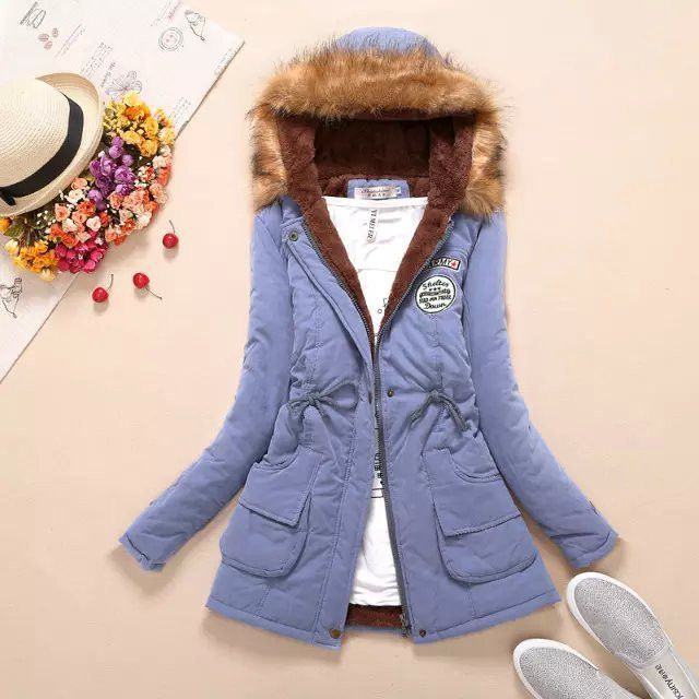 Winter Jacket Women 2016 New Winter Womens Parka Casual Outwear Military Hooded Coat Fur Coats Manteau Femme Woman Clothes A77