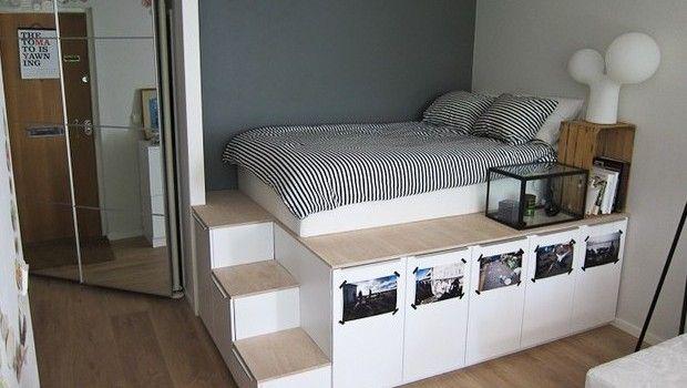 1000 images about morgan 39 s room storage on pinterest loft beds reading nooks and platform beds - Loft bed met opbergruimte ...