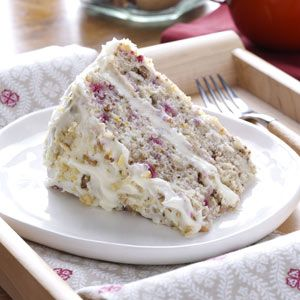 Cranberry Layer Cake Recipe from Taste of Home