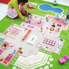 IVI PlayHouse Green 3D Play Rug