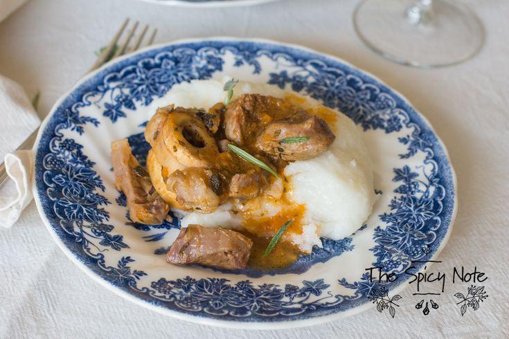 The Spicy Note: L'ossobuco e la polenta di mais bianco perla.