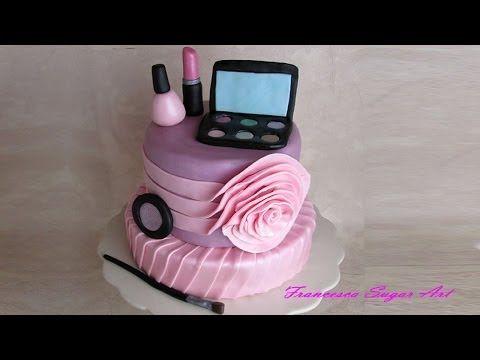 ▶ Fondant make up cake toppers - Trucchi in pasta di zucchero per torta - YouTube