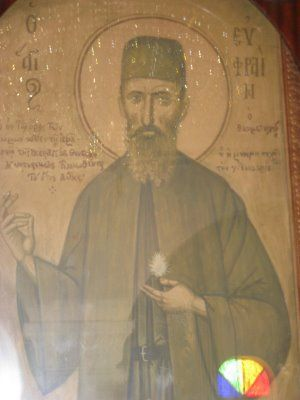 As a Saint who helps troubled and despairing youth and protects against suicide, alcoholism, drugs and all sorts of harmful addictions, the following links provide further information here and here. Parents especially, when praying for their children, should often seek the intercessions of this Saint and these two links are meant to encourage this.        This icon of St. Ephraim was the last painted by the famous iconographer, Photios Kontoglou in 1964 (who I believe is also buried at…