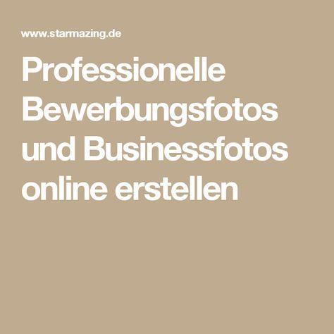 Professionelle Bewerbungsfotos und Businessfotos online erstellen