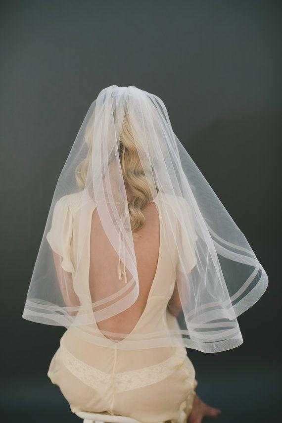 1 & 1/5 Horsehair Veil Bridal Veil Organza Veil by veiledbeauty