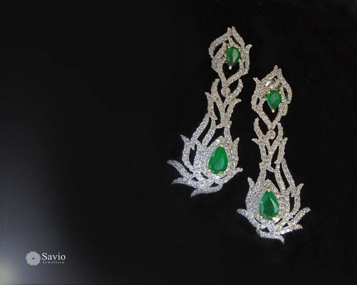 Dancing dazzle and beaming drops; this pair will always be trendy!  #Savio #jewellery #jaipur #jewelry #diamonds #earrings