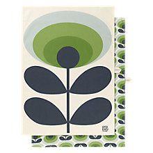 Buy Orla Kiely 70s Flower Tea Towel, Pack of 2 Online at johnlewis.com