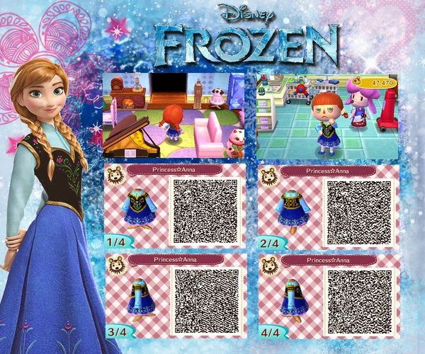 Animal Crossing : New Leaf QR (Elsa from Frozen) by
