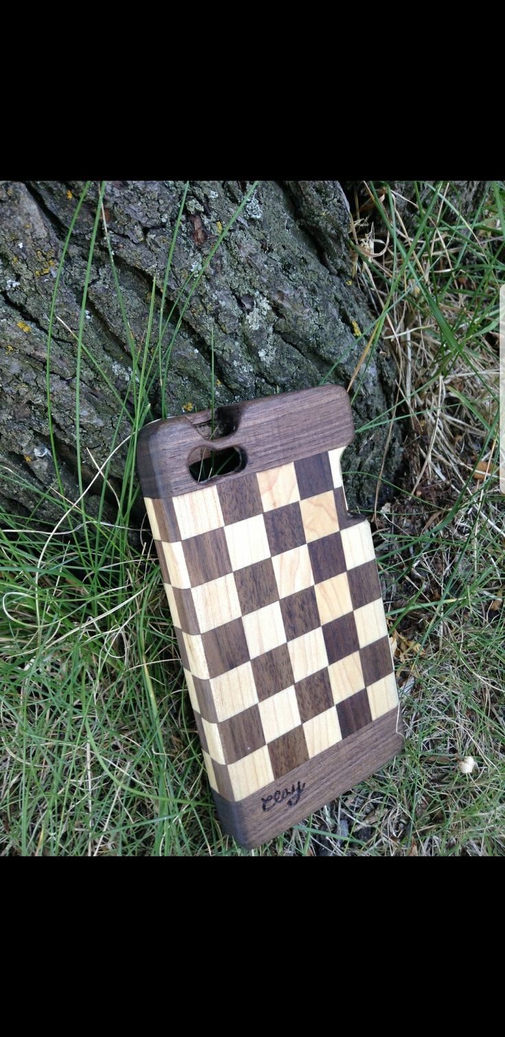 Hand crafted wood phone case