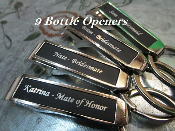 9 Bridesmaid Gift Personalized Bottle Opener Personalized