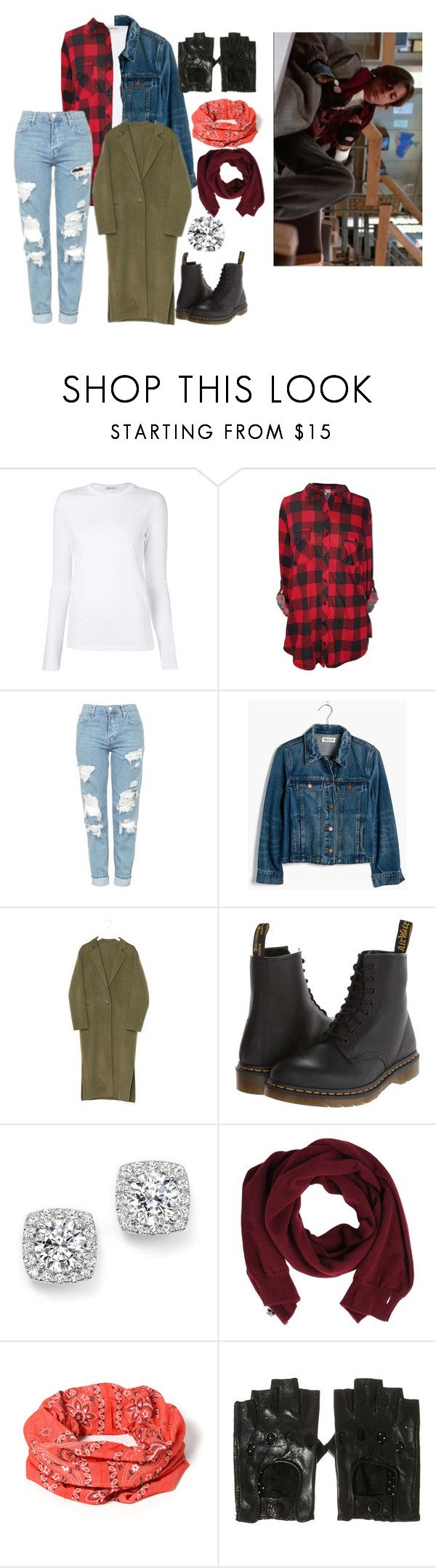 """""""John Bender"""" by annikabvb123 on Polyvore featuring T By Alexander Wang, Topshop, Madewell, Dr. Martens, Bloomingdale's and Pringle of Scotland"""
