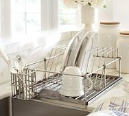 Antique-Silver Dish Drying Rack