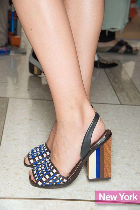 Tory Burch spring 2015 peep-toe heels