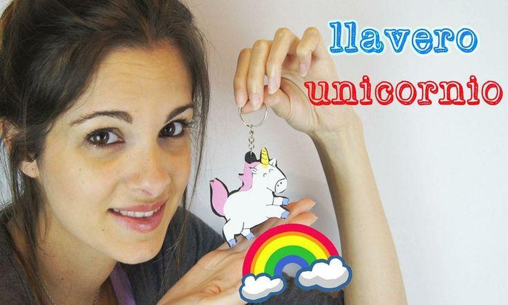 Llavero unicornio en goma eva foamy: ¡el mejor llavero del mundo! | Manualidades