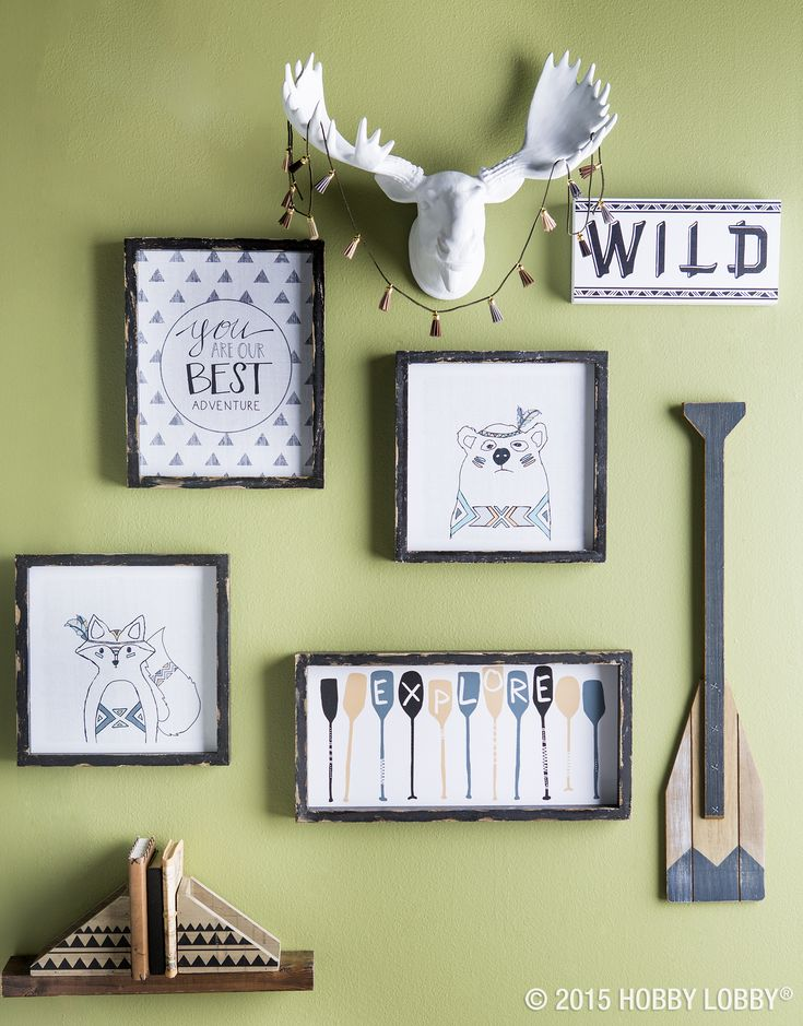 From hobby lobby · give your nursery a modern twist with an adorable fabric tee pee and woodsy decor