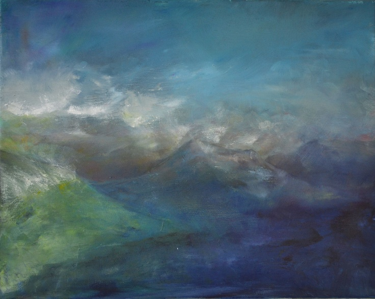 """Mount Nicholas"" (Wakatipu)  Charlie Miller 2012    Oil on Canvas  50cm x 40cm"